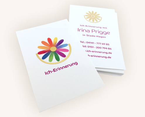 Spirituelles Visitenkarten-Design für Irina Prigge